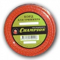 Корд триммерный Champion Nylplus Square 2.4мм, 15м, квадрат