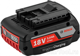Фото Аккумулятор Bosch GBA 18 V 2.0 Ah MW-B Wireless Charging Professional 1600A003NC Startool.ru