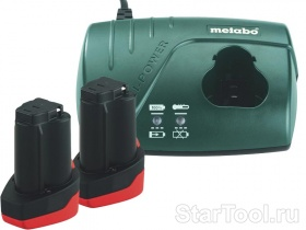Фото Набор Metabo Basic-Set 10.8 В 2x2.0 Ач+ЗУ 685066000 Startool.ru